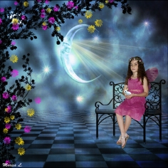 Brielle under the moon