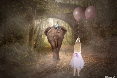 Esme Van and the elephant